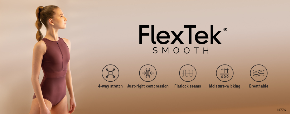 FlexTek Dancewear - Shop FlexTek Elastic Web Crop Top