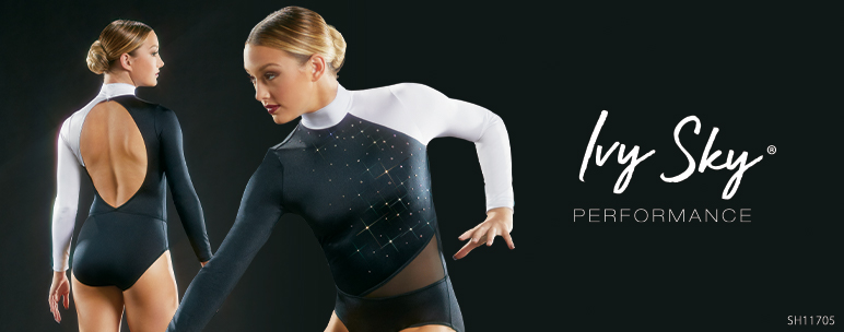 Ivy Sky Performance - Shop Crystal Mock Neck Leotard