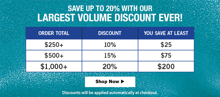 Gymnastics Volume Discounts