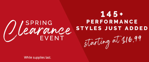 Shop Clearance Styles for Performance