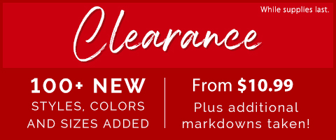 Shop a variety of clearance styles